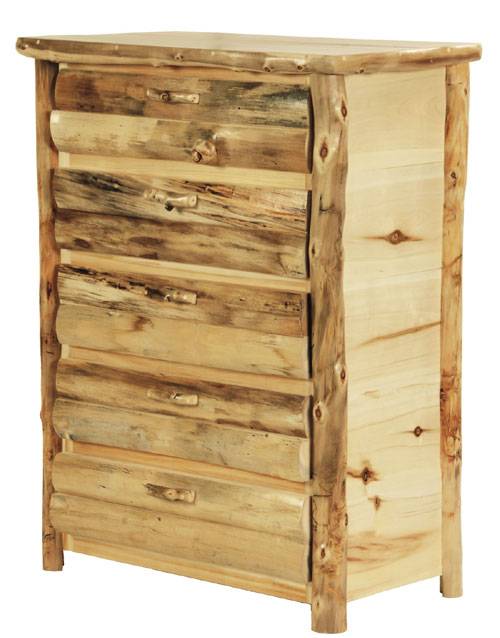 Rustic Discount Budget Bedroom Log Furniture | Aspen Western Bed