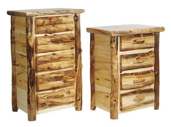 Rustic Discount Budget Bedroom Log Furniture Aspen