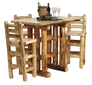 Rustic Log Dining Room Furniture, Aspen Log Dining Room Tables & Chairs