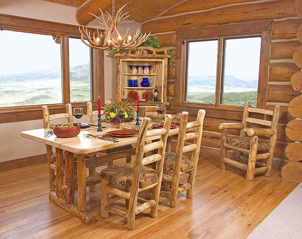 Rustic Log Dining Room Furniture