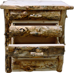 Aspen Grizzly 5 drawer chest (half log)