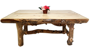 Mountain Woods Furniture's Aspen Grizzly Dining Table