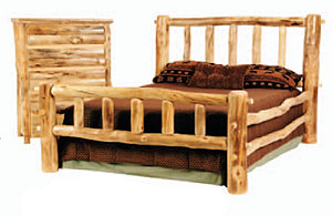 Rustic Bedroom Furniture on Rustic Aspen   Pine Log Furniture  Reclaimed Lodge Furniture  High End