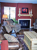 After decorating with aspen log furniture