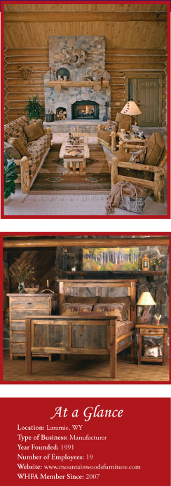 Handcrafted aspen log furniture by Mountain Woods Furniture