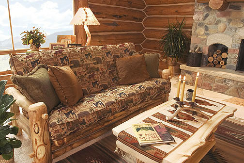 Rustic Log Futon Couch