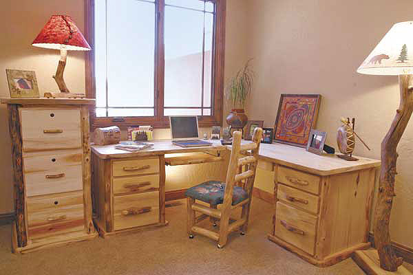 Rustic Log Office Furniture