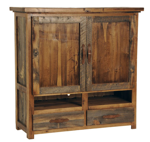 WY Collection Armoire for TV - Rustic Reclaimed Wood Furniture Sustainable Furniture