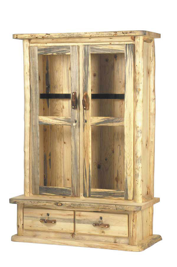 Rustic Aspen Log Gun Cabinet  sc 1 st  Mountain Woods Furniture & Rustic Aspen-Pine Log Pub Tables | Log Gun Cabinets | Log Lamps ...